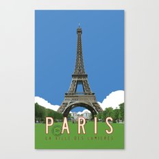 Paris Travel Poster - Vintage Style Canvas Print