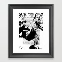 The Only Way Framed Art Print