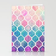 Stationery Cards featuring Rainbow Pastel Watercolo… by Micklyn
