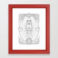 Stormtrooper Jam Framed Art Print