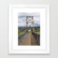 Tolt McDonald Bridge Framed Art Print