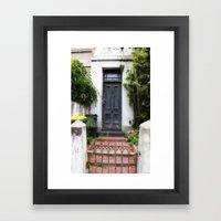 Blue Door. Framed Art Print