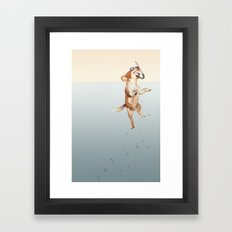 A Super Flood Rescuer Framed Art Print