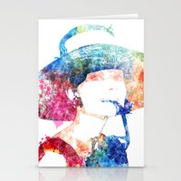 audrey hepburn Stationery Cards featuring Audrey Hepburn by Heaven7