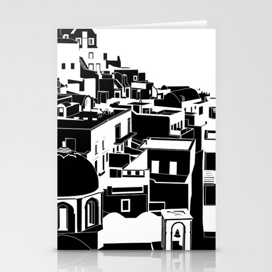 Fira Black and White Stationery Card