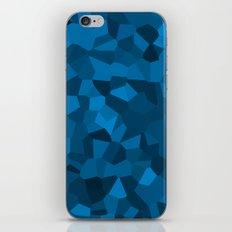 Blue Pixelated Geometric Pattern iPhone & iPod Skin