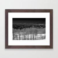 Birch Tree Stand in Utah Framed Art Print