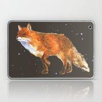 Midnight Snow Fox - Fox print Laptop & iPad Skin
