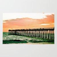 Hermosa Pier (1) Rug