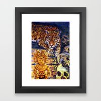 The Old Jaguar Gazed Greedily Framed Art Print