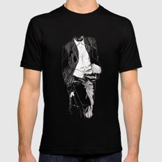 SUIT Mens Fitted Tee SMALL Black