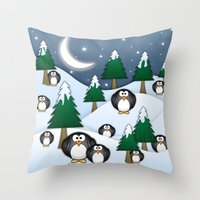 BRRRRRR! It's Chilly Throw Pillow