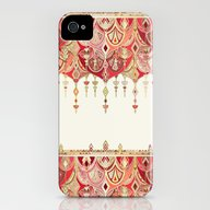 Royal Red Art Deco Doubl… iPhone (4, 4s) Slim Case
