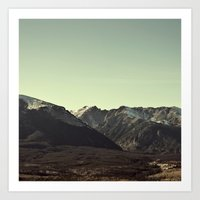 here on the mountain, the air is clear  Art Print