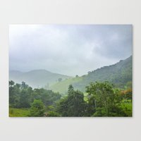 Rainy Hill Canvas Print