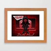 Darth Maul...Sith happens! Framed Art Print