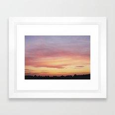 Norfolk, Sunset Framed Art Print