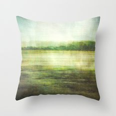 fishbourne marshes Throw Pillow