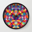 Squares Everywhere Wall Clock