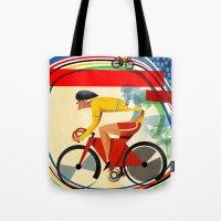 Track Cycling Championship Poster Cycle Bike Tote Bag