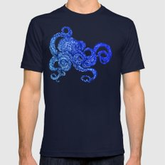 Ombre Octopus Mens Fitted Tee Navy SMALL