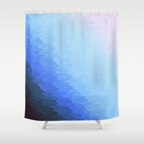 Kitchen Window Uptown Coffee Festival 2016: Blue Ombre Shower Curtain By 2sweet4words Designs