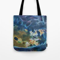 Abstract coralline algae in rock pool on beach in Queensland Tote Bag