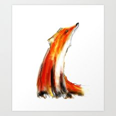 Wise Fox Reverse Art Print
