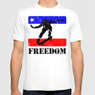 FREEDOM! Skateboarding Mens Fitted Tee White SMALL