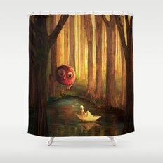 Forest Encounter Shower Curtain