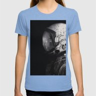 Staring Into Space Womens Fitted Tee Tri-Blue MEDIUM