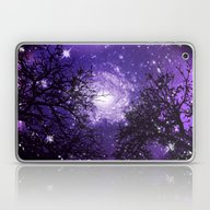 Laptop & iPad Skin featuring Trees, Stars And Lavende… by Minx267