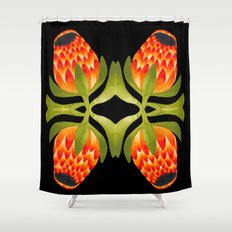 Floral symmetry 1. Shower Curtain