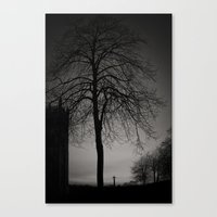 silhouette at Durham Cathedral Canvas Print