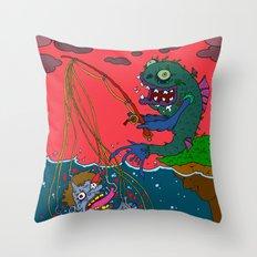 Fishin' time! Throw Pillow