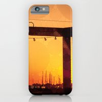 Yacht Basin Marina View Sunset Southport NC iPhone 6 Slim Case