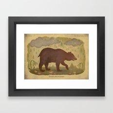 American black bear Framed Art Print