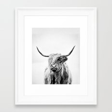 portrait of a highland cow - vertical orientation by request Framed Art Print