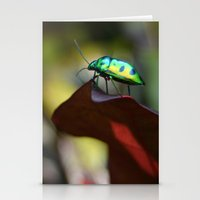 Iridescent Bug (Philippines) Stationery Cards