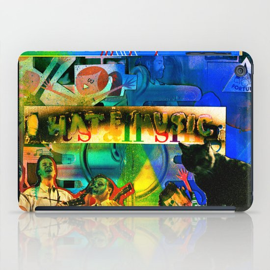 """I Hate Music"" by Cap Blackard iPad Case"