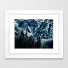 Foot of the Glacier  Framed Art Print