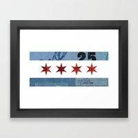 Ephemeral Chicago Flag Framed Art Print