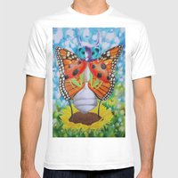 IMAGONIA Mens Fitted Tee White SMALL