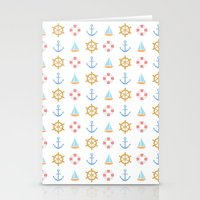 The Essential Patterns of Childhood - Sailing Stationery Cards
