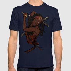 Michonne Mens Fitted Tee Navy SMALL