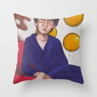 Fifty Shades Of Fried Eggs Throw Pillow