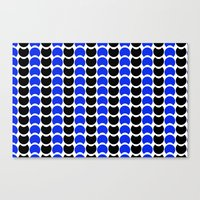 HobNob BlueBlack Print, Canvas and Laptop/iPad Skin Canvas Print