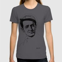 Woody Guthrie Womens Fitted Tee Asphalt SMALL