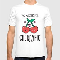 Cherryfic! Mens Fitted Tee White SMALL