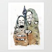 the warriors -2- Art Print